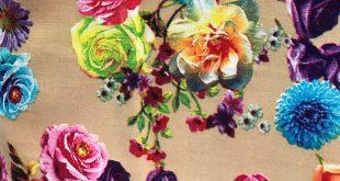 پارچه نخی گلدار